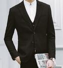 找到自己品牌 英倫男 黑色 三件式小西裝 成套西裝 修身西裝 西裝外套 外套+背心+褲子