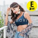 【玉如阿姨】峰藏不露內衣。E罩 全罩 提托 包覆 機能 V溝 托高 大罩杯 台灣製※0555藍