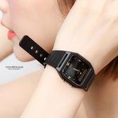 CASIO卡西歐方型黑金雙顯手錶 防水50米【NEC127】