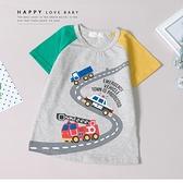 趣味公路汽車短T 春夏童裝 男童棉T 男童上衣 男童短袖 男童T恤