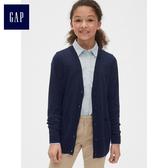 Gap女童 獨角獸圖案長袖開襟針織衫 469870-靛藍色