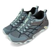 Merrell 戶外鞋 Moab FST 2 GTX 灰 藍 Gore-Tex 防水 透氣 越野 運動鞋 女鞋【ACS】 ML49180