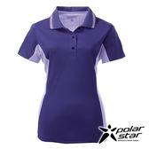 PolarStar 女 涼感銀離子短袖POLO衫『深藍』P17154 吸濕排汗│商務休閒服│短袖透氣運動服│涼感衣