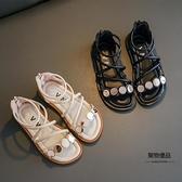 女童涼鞋夏天小公主羅馬鞋夏季女孩軟底兒童中大童鞋【聚物優品】