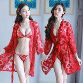 血滴子情趣內衣服女透視裝三點式制服誘惑激情套裝sm騷奶子小胸