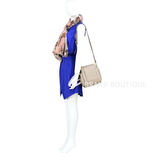 SONIA RYKIEL 卡其色拼接設計肩背包 1410824-28