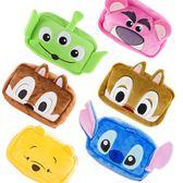 Disney迪士尼立體絨毛化妝包大臉系列 ◆86小舖 ◆