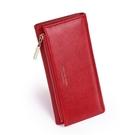 女生長夾 歐美女士三折多卡位大容量錢包 長款拉鏈手機包零錢包 女士長款錢夾皮夾 女士長款錢包