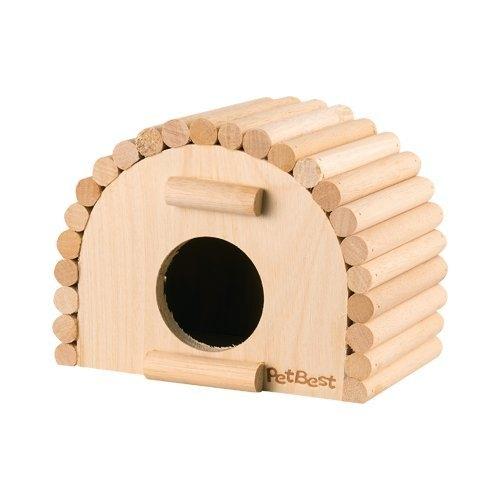 *WANG*PetBest 三內丸丸型原木屋.半封閉設計.最適合小動物休憩.鼠屋