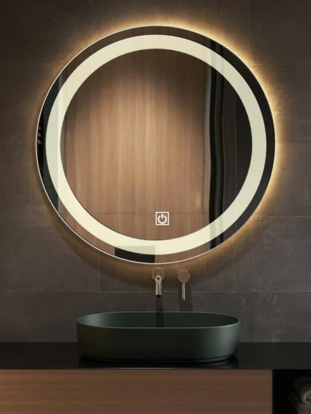 智慧鏡子觸摸屏Led發光帶燈防霧浴室鏡衛生間洗手間鏡子壁掛圓形 MKS 卡洛琳