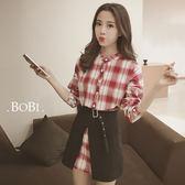 長袖洋裝 不規則短裙兩件套長袖洋裝連身裙【KL931】 BOBI  09/22