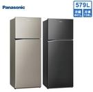 【送基本安裝+送免運】Panasonic國際牌 ECONAVI 579公升變頻雙門冰箱NR-B589TV-S1/A(星耀金/星耀黑)
