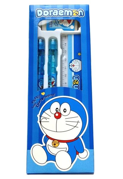 【卡漫城】 哆啦 A夢 4件 文具組 ㊣版 Doraemon 多拉 小叮噹 免削鉛筆 尺 橡皮擦 輕便