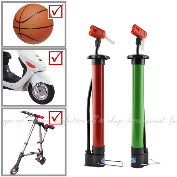 【GG203】簡易攜帶式打氣筒 自行車打氣筒 手壓打氣筒 可打機車 球類均可★EZGO商城★