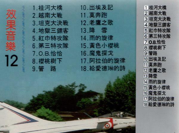 效果音樂 12 CD (音樂影片購)