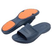 (e鞋院)KENROLL休閒抗油止滑拖 藍(買一雙就送一雙珊瑚絨暖冬保暖襪子(隨機出貨)