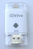 iDrive 64GB/64G OTG隨身碟 Apple Lightning(8 pin)/Micro USB/USB 三用