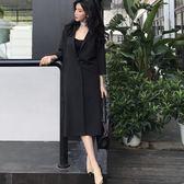 秋裝原宿風時尚百搭氣質女翻領寬鬆七分袖西裝外套 YX4536『小美日記』