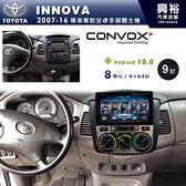 【CONVOX】2007~16年TOYOTA INNOVA專用9吋安卓機*內建環景.鏡頭另購*GT4-8核4+64G
