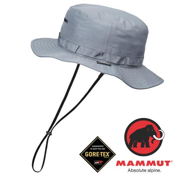 Mammut長毛象 1090-05960-0051鈦金灰 防風防水透氣帽/登山帽健行Gore-Tex All Weather hat運動休閒帽
