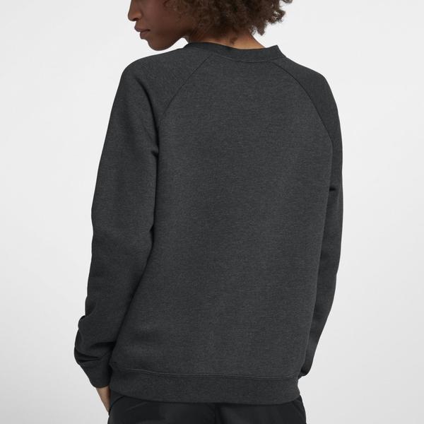 Nike AS W NSW RALLY CREW [930906-032] 女 休閒 長袖 上衣 純棉 大學T 刷毛 灰