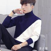 高領毛衣秋冬季男韓版寬鬆針織衫潮流個性學生帥氣線衣外套 zm9450『男人範』