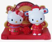 【卡漫城】 Hello Kitty 名片座 中式 婚禮 ㊣版 便條紙架 手機座 結婚 情人 擺飾 佈置 囍 永結同心