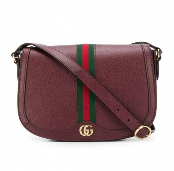 ■專櫃72折■Gucci 全新真品 Gucci GG Ophidia 601044 小牛皮馬鞍型翻蓋包