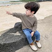 男童秋裝兒童t恤長袖2020新款男寶寶條紋打底衫春秋男孩上衣洋氣 店慶降價