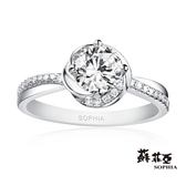 蘇菲亞SOPHIA - 幸福相擁1.00克拉FVVS1鑽石戒指