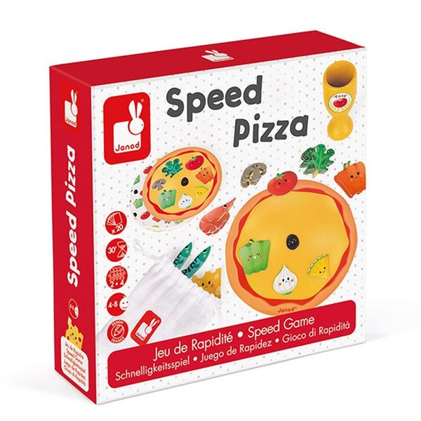 【法國Janod】趣味桌遊-做披薩大賽 J02782