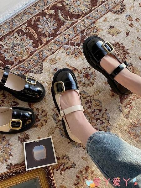 小皮鞋 瑪麗珍鞋子女2021年春季新款粗跟單鞋百搭英倫風復古日系小皮鞋潮 愛丫 免運