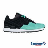 SAUCONY SHADOW O SUEDE 經典復古鞋款-黑x湖水綠