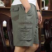 優惠兩天-夏季中年男士短褲純棉大碼爸爸裝中老年休閒寬鬆五分褲外穿大褲衩