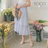 東京著衣【YOCO】甜美女孩層次條紋長裙-XS.S.M(6012853)