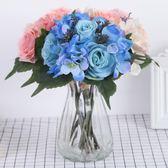 手捧花假花假玫瑰花束仿真花干花結婚婚禮婚慶裝飾客廳塑料花絹花 初見居家