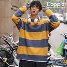 條紋毛衣 韓版寬鬆復古破壞下擺針織毛衣 現貨+預購 【TJF8610】