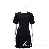 MICHAEL KORS 黑色可拆式羊皮造型短袖洋裝 1610106-01