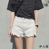 黑五好物節 白色牛仔短褲女夏顯瘦學生a字熱褲