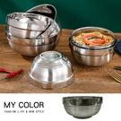 泡麵碗 防燙碗 不鏽鋼碗 白鐵碗 大碗公 304不銹鋼 隔熱碗 湯碗 雙層隔熱碗【R065】MY COLOR