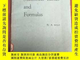 二手書博民逛書店statistical罕見tables and formulas(P3017)Y173412