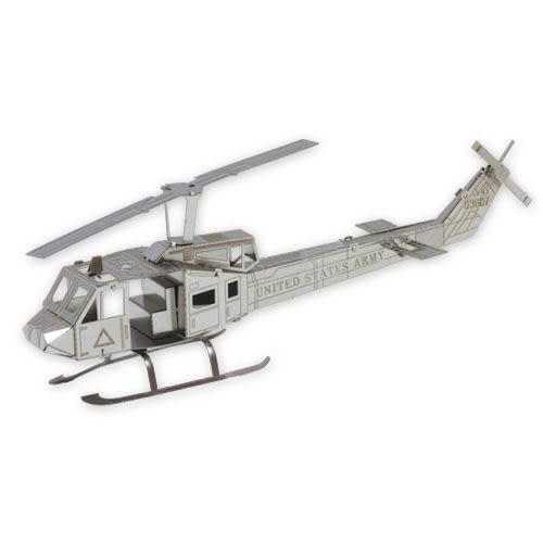 ★funbox玩具★METALLIC NANO PUZZLE 金屬微型模型拼圖 09 Huey直升機 NO21909