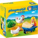 Playmobil 摩比 6965 農場女孩與小雞