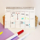 【BlueCat】牛皮紙 週計畫本 筆記本 記事本