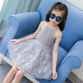 童裝新款兒童裙子女童洋氣夏裝無袖公主韓版連身裙蕾絲夏季潮