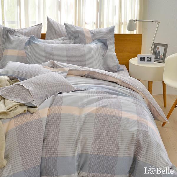義大利La Belle《西格里》雙人純棉防蹣抗菌吸濕排汗兩用被床包組