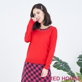 【RED HOUSE 蕾赫斯】蝴蝶結針織衫(共2色)