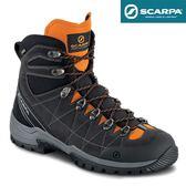 義大利【SCARPA】R/EVO LUTION GTX 男款 中筒 防水健行鞋、登山鞋 (煤灰-木瓜橘)