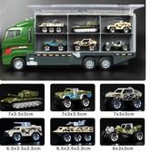 兒童消防車玩具工程車合金小汽車模型套裝仿真集裝箱3-6周歲男孩igo