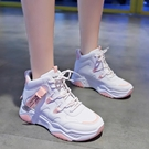 韓版高幫運動鞋女秋季新款學生小白鞋女百搭跑步板鞋女休閒鞋【快速出貨】